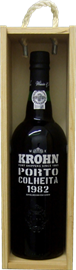 Krohn Colheita 1982 in wooden box