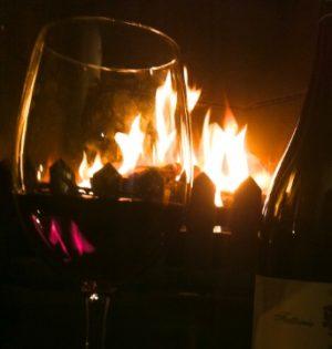Fireside wine
