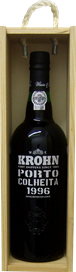 Krohn Colheita 1996 in wooden box